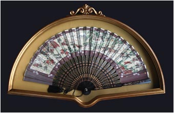 Fan Display Case Model 58: Antique Gold