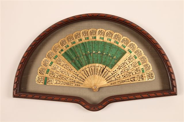 Fan Display Case Model 47: Carved Wood